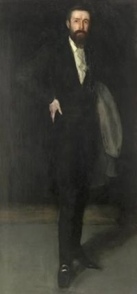 Arrangement in Black: Portrait of F. R. Leyland, by James Whistler